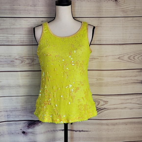 Balera Brand Large Yellow Dance Sequin Top…